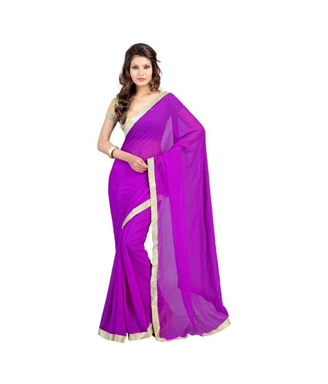 Id 459 Purple Ethnic Blouse sainandini purple chiffon saree with blouse buy