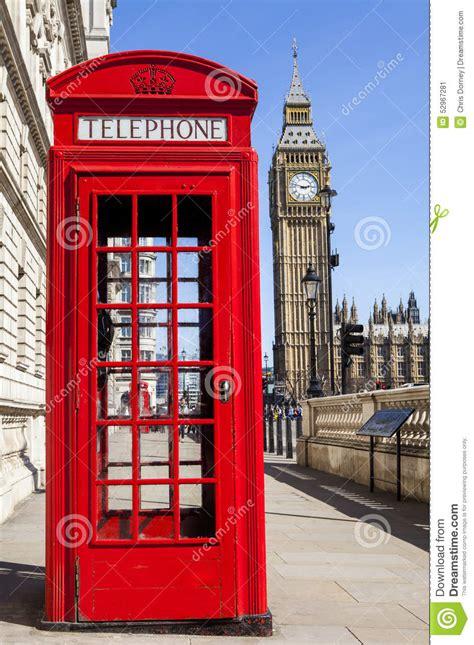 cabine telefoniche londra cabina telefonica rossa e big ben a londra immagine stock