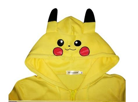 Hoodie Pika Pikachu 1 fashion jacket yellow pikachu costume