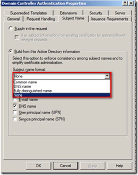 domain controller certificate template error selecting a certificate when configuring nps addict