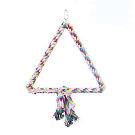 triangle swing hb01269 triangle cotton rope swing happy beaks