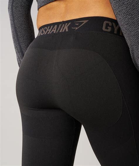 gymshark flex leggings black marlblack