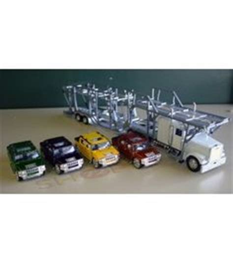 Truck Haulier 1 32 Mib diecast freightliner auto carrier with set of 6 cars kinsmart 1 32 mini cooper s flag 4