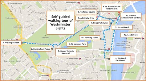 map of westminster westminster sights a self guided walk in