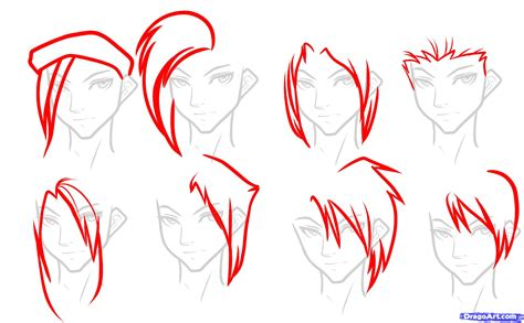 easy way to draw hairstyles how to draw hair for boys step by step hair people