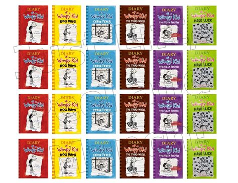 Bookcover Inspire Mini diary of a wimpy kid mini book covers just lift peel and munch