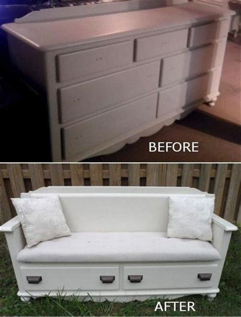 how to make a dresser into a bench repurposed dresser ideas the idea room