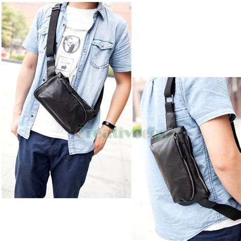 Visval Ryga Navy Hip Pack Waist Sling Bag Tas Pinggang s fashion leather messenger shoulder pack waist sling chest bag pouch ebay
