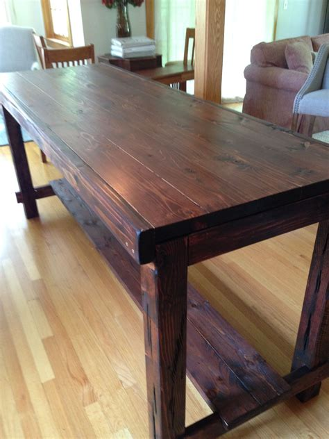 counter height farm table island counter height farm table in custom mahogany aged and