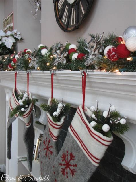 Christmas Tree Home Decorating Ideas christmas home tour christmas mantel clean and scentsible
