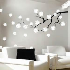 trendy wall designs contemporary branch flowers vinyl wall decal trendy wall