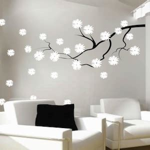 flower design on wall contemporary branch flowers vinyl wall decal trendy wall