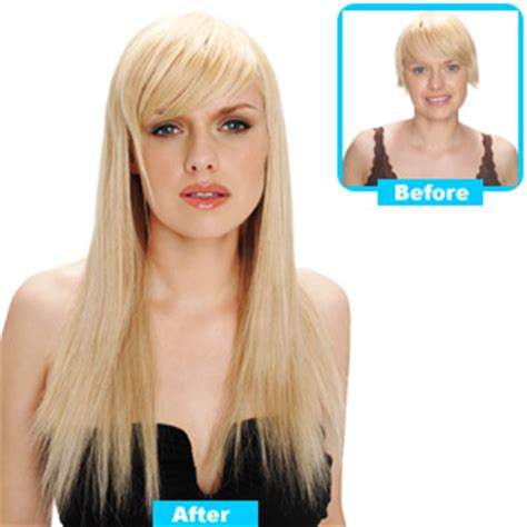 extensions on very very short hair clip extensions full head clasf