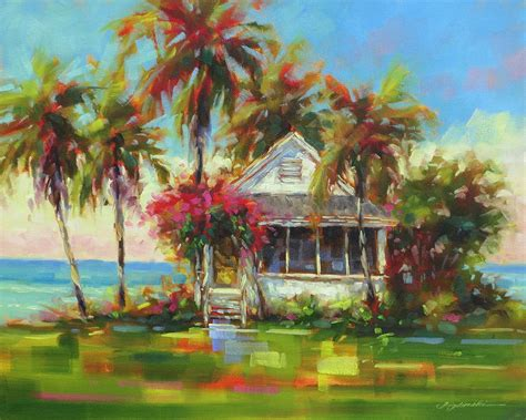beach house paintings beach house painting by martin figlinski
