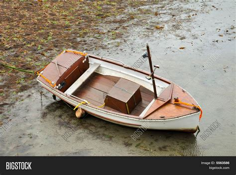 small boat fishing magazine small wood fishing boat image photo bigstock