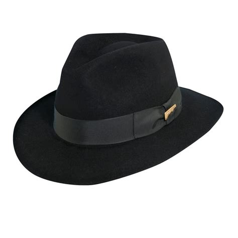 Hats To You by Indiana Jones Officially Licensed Fur Felt Fedora Hat All