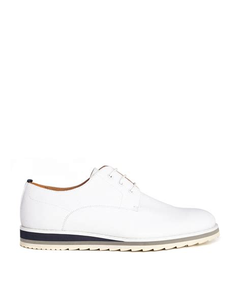 asos shoes lyst asos derby shoes in canvas in white for