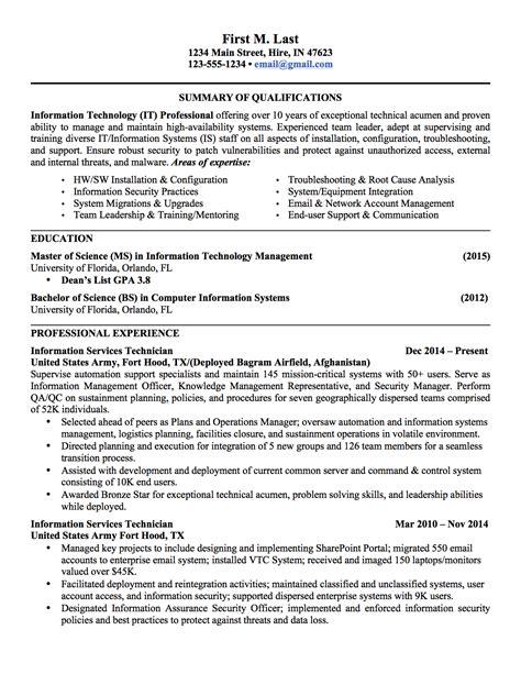 military to civilian resume examples resume templates