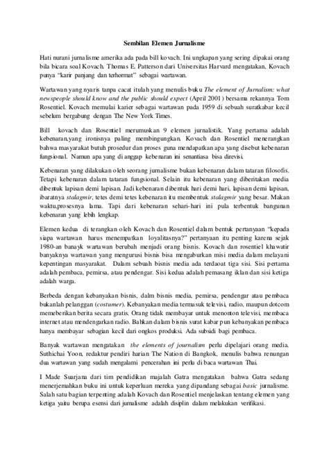 Sembilan Elemen Jurnalisme 1 sembilan elemen jurnalistik