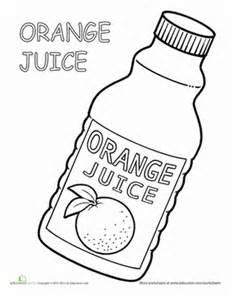 Preschool life learning sight words worksheets orange juice coloring