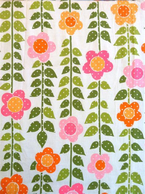 Retro Fabric by Vintage Fabric Flower Power