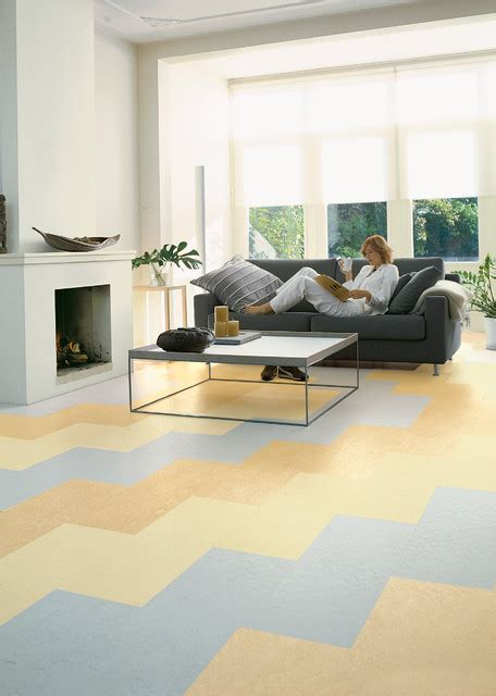 Linoleum Flooring In Living Room by Forbo Marmoleum Click Linoleum Flooring Modern Living Room Chicago By
