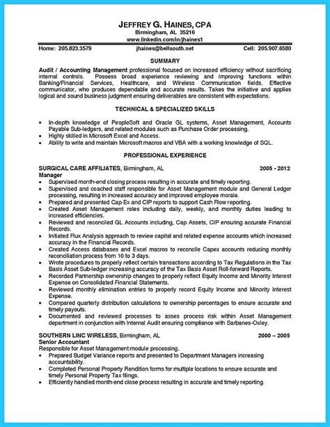 Senior External Auditor Resume by A Concise Credential Audit Resume