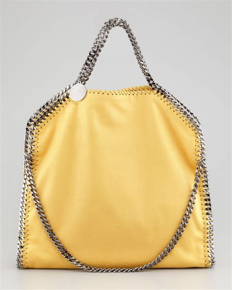 Stella Mccartney Bag stella mccartney falabella foldover tote bag yellow in