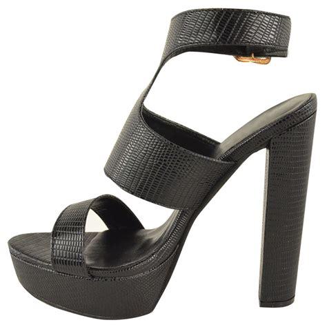 womens platform sandals new womens high heel platform sandals ankle strappy