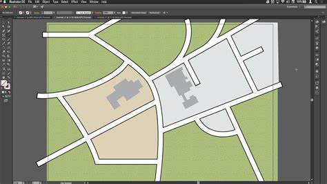 simple map drawing roads on simple maps in illustrator