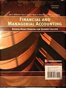 managerial accounting binder ready version books financial and managerial accounting binder ready version