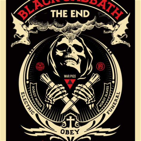 The End Of Prints by Black Sabbath Quot The End Quot Prints Avail 2 23 Obey