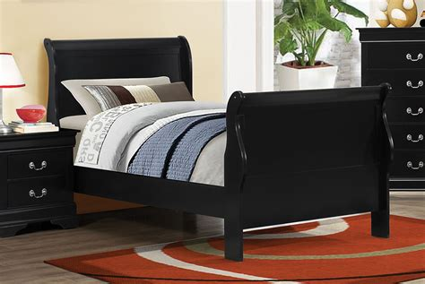 black sleigh bed louis philippe black ii twin sleigh bed 203961t coaster
