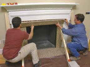 reface a fireplace with veneer how tos diy