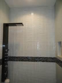 large glass tile backsplash