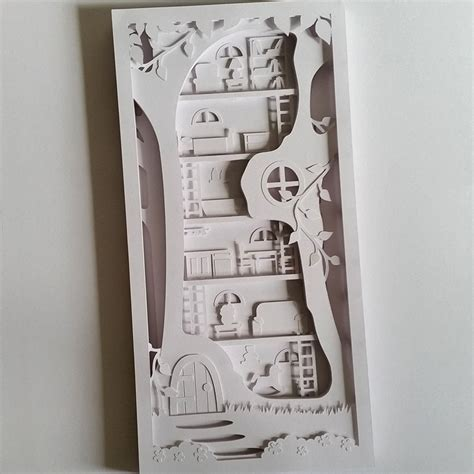 3d paper cutting templates tree house cut your own 3d shadow box layered papercutting