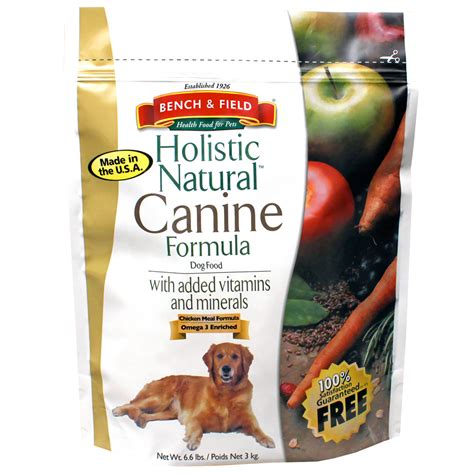 bench and field dog food bench field holistic natural canine formula 6 6 lbs