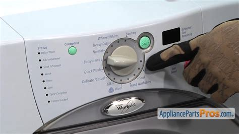 How To Fix Washing Machine Knob by Duet Washer Knob Part Wp8181881 How To