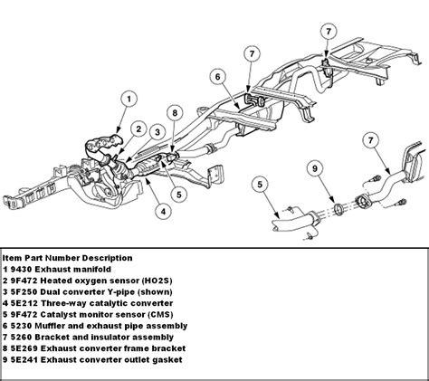 1997 ford ranger exhaust system diagram 1999 ford ranger exhaust system diagram