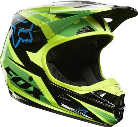 fox v1 motocross helmet new 2014 fox racing v1 race green helmet motocross sx mx