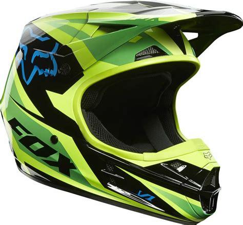 Helm Kyt Cross Kracing Green Yellow Fluo K Racing Flou new 2014 fox racing v1 race green helmet motocross sx mx atv road motorcycle motocross