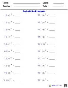 collections of junior high math worksheets easy