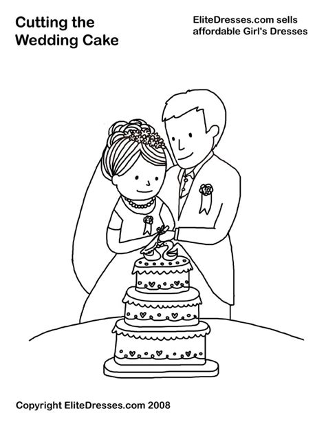 Free Coloring Pages Of Cake Bride Free Wedding Coloring Pages