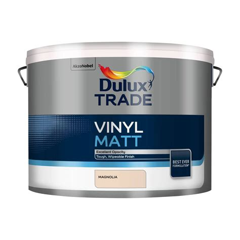 dulux trade trade magnolia matt emulsion paint