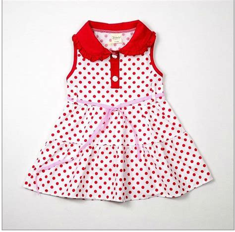 dot pattern frocks free shipping wholesale hot girl dress baby dress kids
