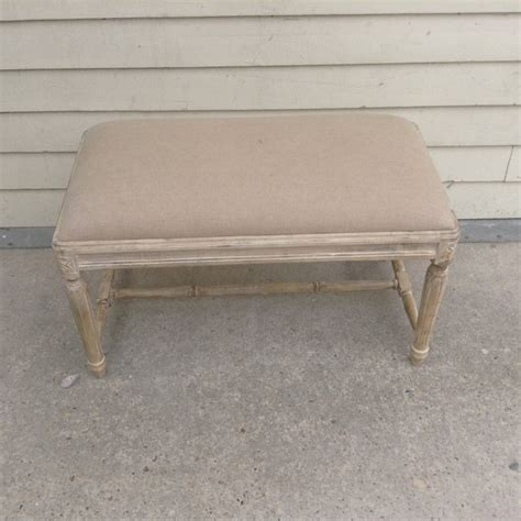 small padded bench small upholstered bench with fluted legs nadeau new orleans