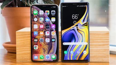 iphone xs max confrontou galaxy note9 em teste de velocidade e ganhou