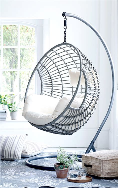 ceiling swing chair indoor get creative with indoor hanging chairs casa