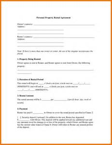 6 property rental agreement itinerary template sample