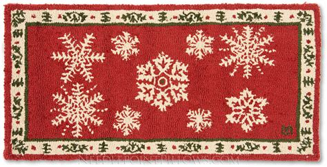 winter rugs for sale handmade winter snowflakes hooked rug